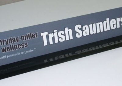 Trish Saunders Name Plate