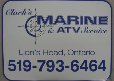 Clark's Marine ATV Service Vehicle Magnet