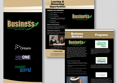 Business Enterprise Centre Half-Fold Brochure
