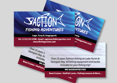 Action Fishing Adventures Business Cards