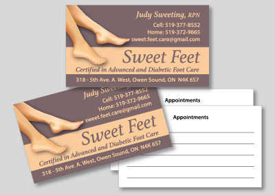 Sweet Feet Business Card