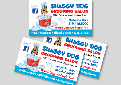 Shaggy Dog Grooming Salon Business Card