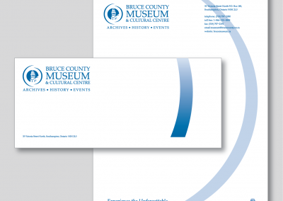 Bruce County Museum Letterhead and Envelope
