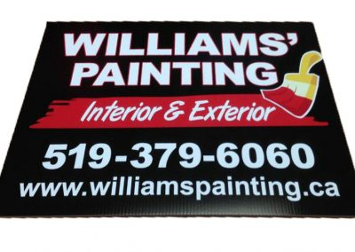 William's Painting Sign