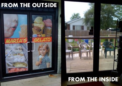 Perforation Vinyl Window for Maria's Gelato