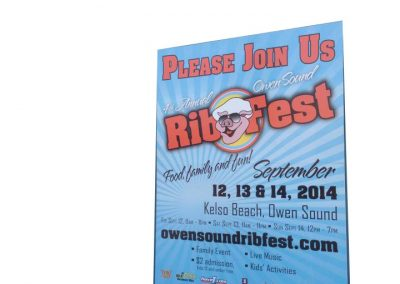 Coroplast Sign - Rib Fest Sign