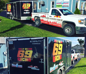 Fyre Place Trailer Decal and Vehicle Wrap