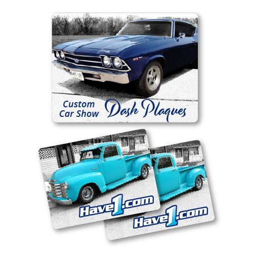 Dash Plaques HAVECOM - Car show dash plaque display