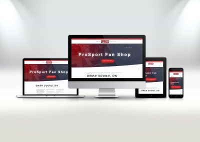 ProSport Fan Shop Website Design